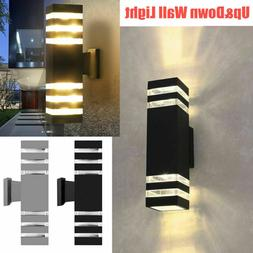 Modern Up&Dowm Outdoor Light Fixture Wall Lamp Sconce IP65 E
