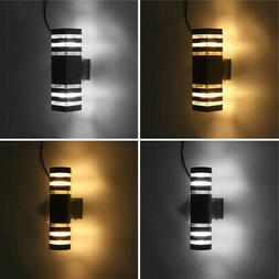 Modern Up Down LED Wall Light Sconce Dual Head Lamp Fixtures