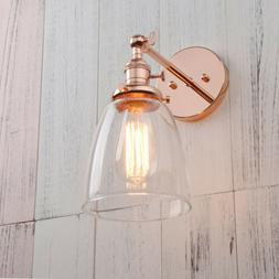 Modern Vintage Filament Wall Light Sconce Lamp Glass Shade I