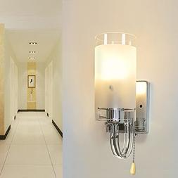 Elitlife Modern Style Wall Light Lamp Silver Chrome & White