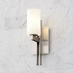 "Modern Wall Light Sconce Brushed Nickel 14"" Fixture for Bedr"