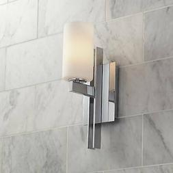 "Modern Wall Light Sconce Chrome 14"" Fixture Frosted for Bedr"