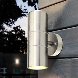 Modern Wall Light Up Down Sconce IP54 Stainless Steel Lighti
