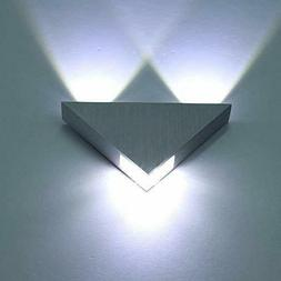 Lightess Modern Wall Sconce Lighting Triangle Mini Wall Lamp
