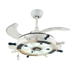 Nautical Style 4 Blades Anchor Hanging Ceiling Fan with Invi