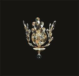 New! Decorative 1-Light Small Crystal WALL SCONCE Gold Frame