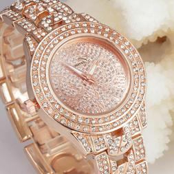 New Fashion Women's Geneva Crystal Rhinestone Stainless Stee
