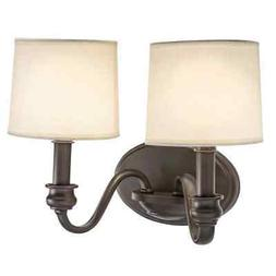 New Transitional Wall Sconce 2-light Old Bronze Finish