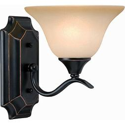 Oil Rubbed Bronze 1 Bulb Bathroom Light Wall Sconce #127967