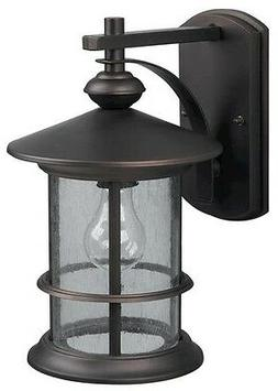 Oil Rubbed Bronze Outdoor Wall Mount Lantern Light! Exterior