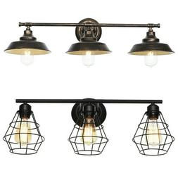 Oil-Rubbed Bronze Vanity Light Bathroom Wall Farmhouse Vinta