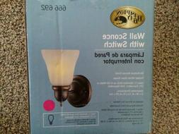 New Oil Rubbed Bronze Wall Sconce Light Fixture Glass Lamp S