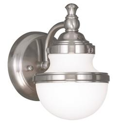 Livex Lighting 5711-91 Oldwick 1-Light Bath Light/Wall Sconc