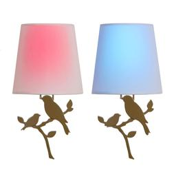 Olive Battery Operated Wall Light Bird Integrated LED Sconce