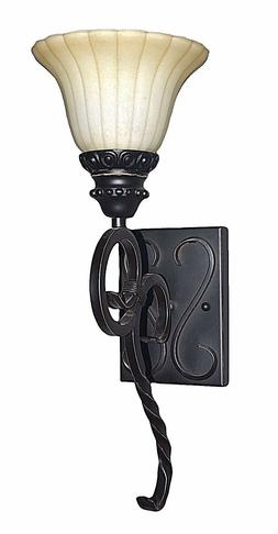 ORB oil rubbed bronze wall iron scroll sconce 1 light MD sca