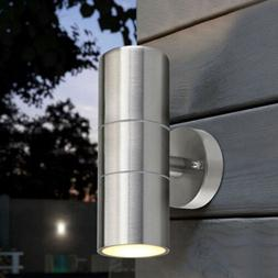 Outdoor Wall Light Fixtures Up Down LED Stainless Steel Wate