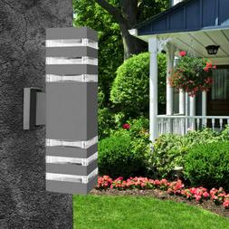 Outdoor Waterproof Modern LED Up Down Wall Light Sconce Dual