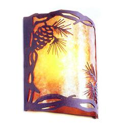 Pinecone Silhouette Mica Wall Sconce Light Cottage Cabin Lod