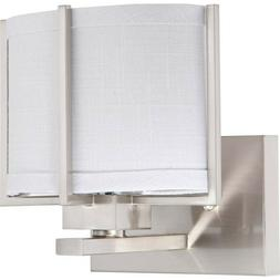Nuvo Lighting Portia1 Light Wall Sconce in Brushed Nickel -