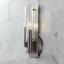 """Possini Euro Pax 15"""" High Brushed Nickel Wall Sconce"""