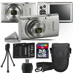 Canon PowerShot 180 20 Megapixel Compact Camera - Silver - 2