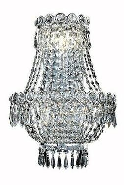 "PWG Lighting Agathe 3-Light 12""D Crystal Wall Sconce 1615W12"