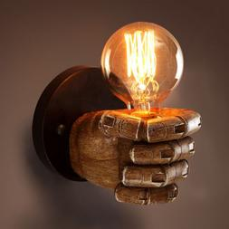 Retro 1 Light Clenched Fist Wall Light Fixture Sconce Creati