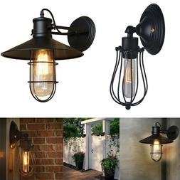 Retro Black Wall Sconce Lighting Gooseneck Barn Lights Led W