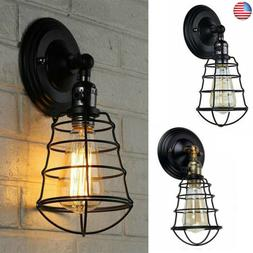 Retro Cage Antique Vintage Rustic Lamps Wall Sconce Light Fi