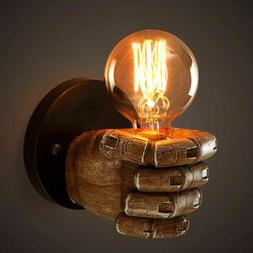 Retro Industrial Resin Fist Wall Light Fixture Edison Lamp S