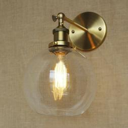 Retro Industrial Wall Light Vintage Glass Ball Wall Sconce E