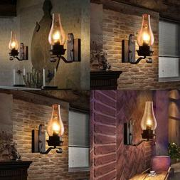 Lightinthebox Retro Rustic Nordic Glass Wall Lamp Bedroom Be