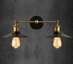 retro rustic vintage industrial wall light double