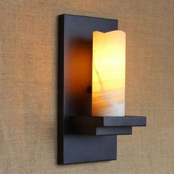 Retro Vintage Marble Candle <font><b>Wall</b></font> Lamp Fi