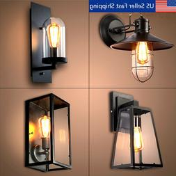 Retro Vintage Outdoor Wall Lamp Lantern Sconce Light Fixture