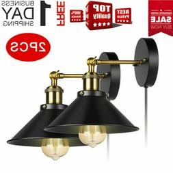 Fashion Wall Sconces Light Wall Lamp Plug in Cord with On Of