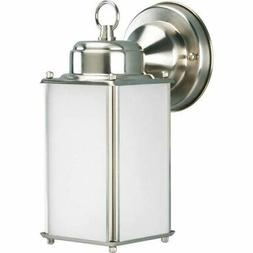 Roman Coach Brushed Nickel One-Light Outdoor Wall Sconce wit
