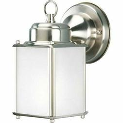 roman coach brushed nickel one light outdoor