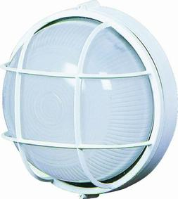 Artcraft Lighting Large Round Wall Sconce Light, White