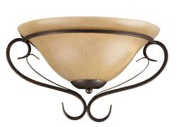 Rubbed Bronze Finish Traditional Hallway Wall Sconce With Te