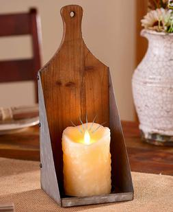 Rustic Country Primitive Farmhouse Pillar Grungy LED Candle
