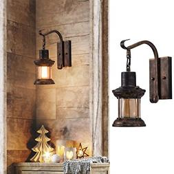 Rustic Indoor Light, Oil Rubbed Bronze Finish Vintage Wall S