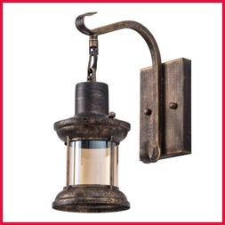 Rustic Indoor Light Oil Rubbed Bronze Finish Vintage Wall Sc