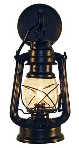 Rustic lantern wall mounted light - Small Black by Muskoka L