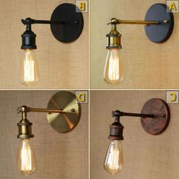 Rustic Vintage Industrial Wall Edison Light Sconce Lamp Bulb