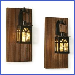 Rustic Wall Decor Sconce Farmhouse Mounted Hanging Metal Lan