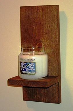 Rustic Wall Sconce, Candle Holder, Candle Sconce, Stained wa