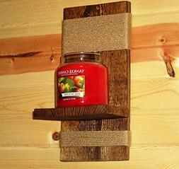 Rustic wall sconce - Candle Holder