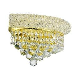 SALE French Empire 2 Light Gold Finish Clear Crystal Wall Sc