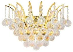SALE USA BRAND French Empire 3 Light GOLD Crystal Wall Sconc